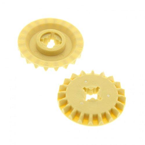 2 x Lego Technic Zahnrad beige tan 20 Zähne 20Z Zahn Rad Räder Typ1 für Set 31313 42064 76042 9493 10226 45560 32198