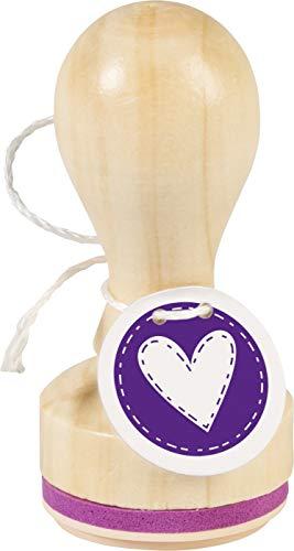 Knorr Prandell 211803041 Knorr prandell 211803041 Stempel aus Holz, rund Motivgröße ca. Ø 3,2 cm, Motiv: Herz Stitches