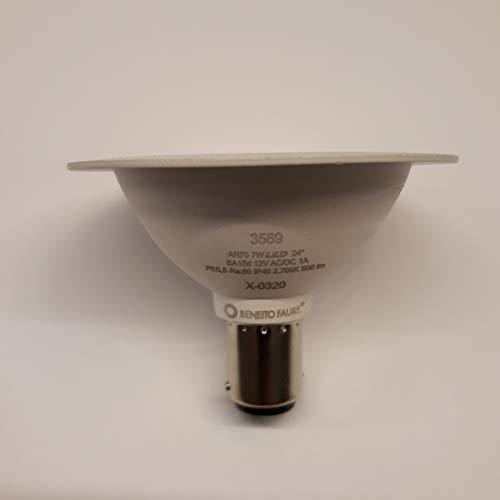 LAMPADA LED MAX AR70 BENEITO FAURE BA15d / B15d 7W 12V 24º 2.700K LUCE CALDA