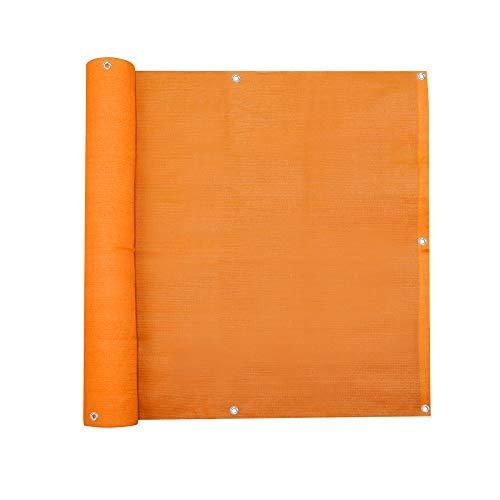 jarolift Balkonbespannung, Balkon Sichtschutz Windschutz Sonnenschutz Balkon-Verkleidung, Atmungsaktiv, 300 x 75 cm orange