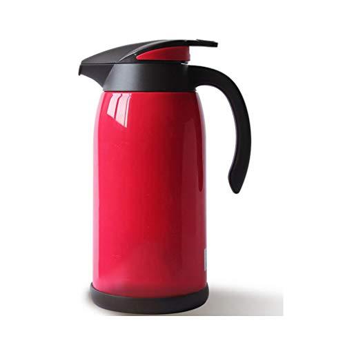 Flachmänner Isolierkessel-Haushalt Große Kapazität Isolationstopfpresse Thermos-Glas-Galle-Thermos-Europäischer Wasserkocher-Glas-Liner (Kapazität : 1L, Farbe : Rot)