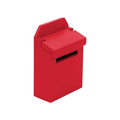 Jorzer 1:12 Puppenhaus Holz Postfach Simulation Postfach Spielzeug Puppe Haus Zubehör Set Mini Holz Briefkiste Für Dekoration Kinder Mädchen Geschenk - rot