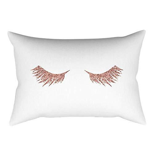 VJGOAL impresión de Moda Rosa-Oro Rosa Cojín Suave Funda de Almohada Rectangular Decoración para el hogar (30cm X 50cm)(30_x_50_cm,Rosa2)