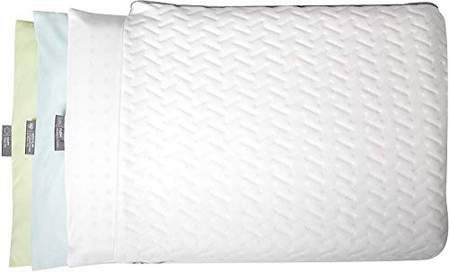 BROOKSTONE BioSense Layer Adjust Pillow – Customizable Support with 3 Removable Interchangeable Fill Layers of Memory Foam, Chipped Foam and Down Alternative Fiber Fill – Standard/Queen