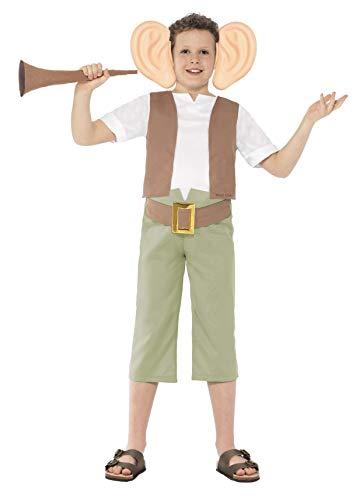 Smiffy's Licenciado oficialmente Costume Roald Dahl The BFG, Vert, avec haut, pantalon, serre-tête et trompette d