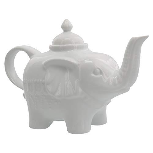 BIA Cordon Bleu 28-Ounce Elephant Teapot, White