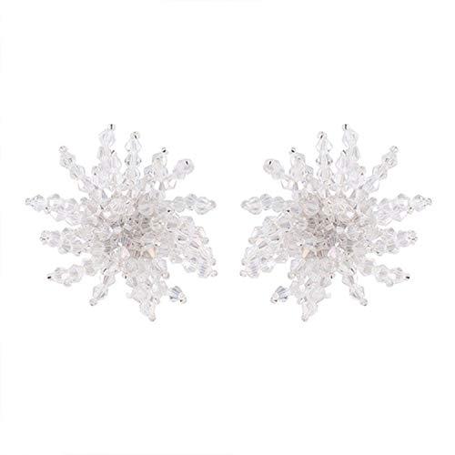 Pendientes para mujer Super Flash Crystal Pendientes de moda discoteca Big Petal Pendientes