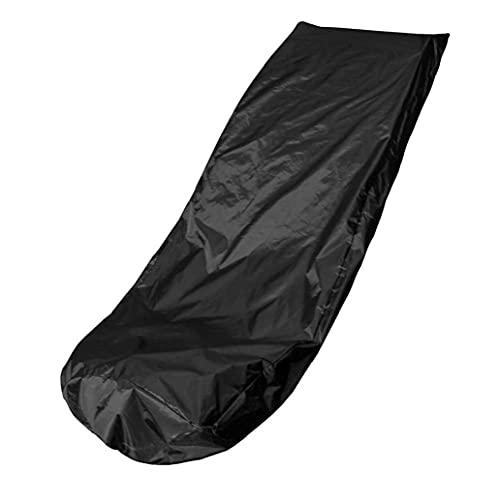 Segadora cubierta impermeable a prueba de polvo Máquina de siega funda protectora 39x74x25Inch Negro, cortadora de césped cubierta