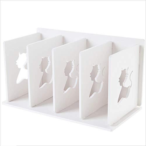 TLMYDD Estantería De Escritorio Rack De Almacenamiento De Archivos De Múltiples Capas Rack De Almacenamiento De Piso Blanco 30.5x16x17cm Estante para Libros