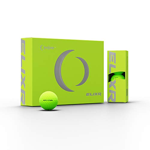 ONCORE GOLF ELIXR Tour Ball - High Performance Golf Balls - Green Matte (One Dozen   12 Premium Golf Balls) Unmatched Control, Distance, Feel & Performance