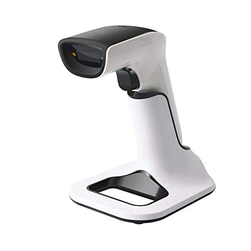 ZHYZ Barcode Scanner, Wireless USB Bluetooth 3 in 1 2D 1D QR 2.4 GHz kabellos Funk Handscanner, Direktes Ablesen von Bildschirme, Dauerbetrieb von ca. 30 Tagen, Mit Halterung