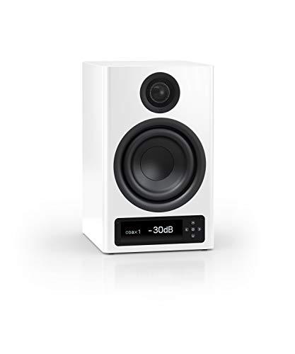 Nubert nuPro X-4000 RC Regallautsprecher | Bluetooth Lautsprecher aptX HD | Lautsprecher Verbindung kabellos High Res | Schreibtischlautsprecher für Homeoffice | Kompaktlautsprecher Weiß | 1 Stück