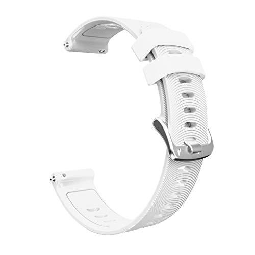 kexinda Sport-Silikon-Uhr-Band-Fitness-Armband-Silikon-Bügel kompatibel mit Garmin/Huawei/Samsung 20mm, Weiß