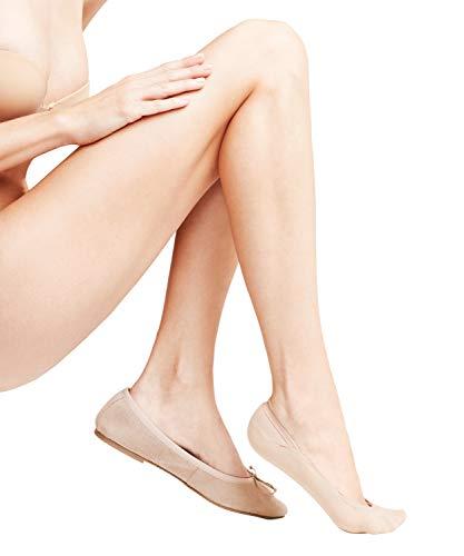FALKE Damen Füßlinge Cotton Step - Baumwollmischung, 1 Paar, Beige (Crystal 4409), Größe: 39-42