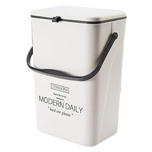 Cubo de basura de gestión portátil e innovador, con tapa, cubo de basura, sistema de separación de residuos