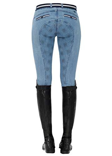 SPOOKS Rijbroek voor Vrouwen Meisjes Kinderen, Volledige Grip Siliconen Patch Panty's voor Rijden en Toernooi, Paardensport - Richarda Volledige Grip Jeans - XXS - XL