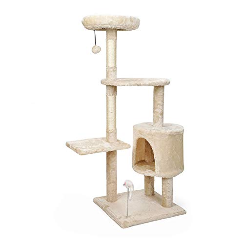 YANGYUAN Cati-Nivel Cat Tree Stand House Muebles Kittens Activity Tower con Posts Scratching Kitty Pey Play House