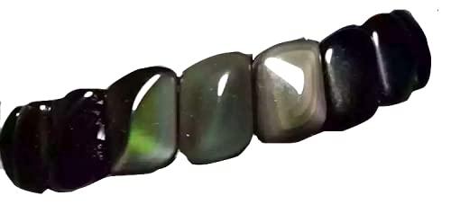 Bracelet obsidienne oeil celeste pierre de protection