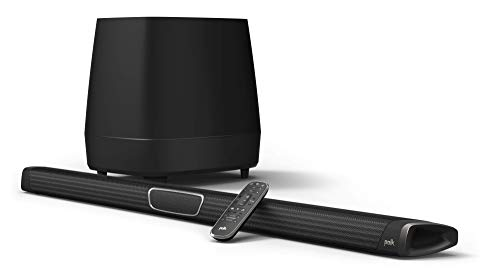 Polk Audio MagniFi Max Home Theater Sound Bar with 5.1 Dolby Digital Experience | Works with 4K & HD TVs | HDMI & Optical Cables, Wireless Subwoofer Included, Black