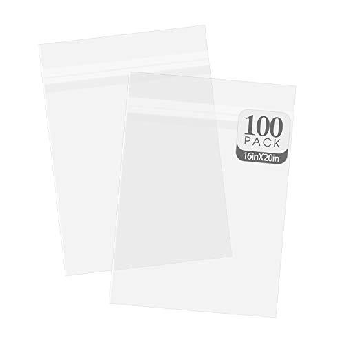 Golden State Art, 100 16 3/8x20 1/8 Crystal Clear Bag for mat Mattes
