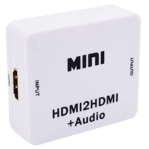 Huante 1080P - Extractor digital con analógico, 3,5 mm, salida de audio Hdmi2Hdmi