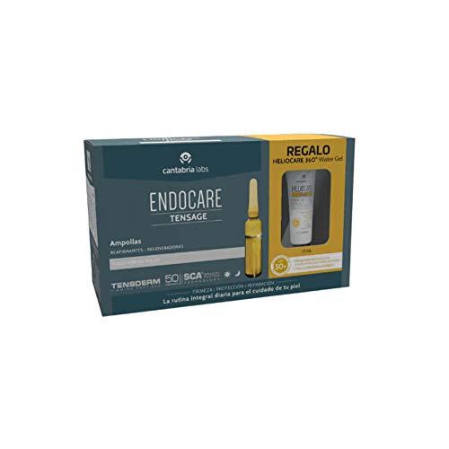 Endocare Tensage Ampollas, 20Ampollas x 2ml+REGALO Heliocare 360 Water Gel SPF50+, 15ml