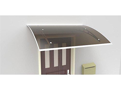 Pensilina,Tettoia casa in Alluminio 200x100cm tetto policarbonato oscurante 1891