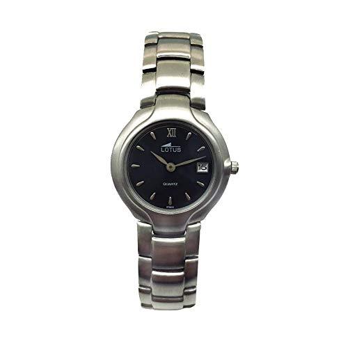 Lotus 9758/2 Reloj de Mujer de Acero Inoxidable matizado con Calendario