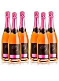 LADRÓN DE LUNAS Cava Bisila Rose. Cava de la Comunidad Valenciana. 100% Garnacha. Botella de 75 Cl (Pack 6 botellas)