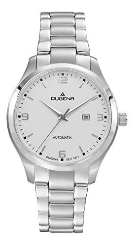 Dugena Damen Automatik Armbanduhr, Saphirglas, Edelstahlarmband, Tresor Woman Automatik, Silber, 4460913