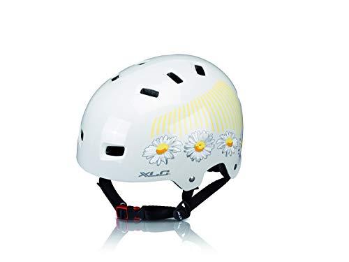 XLC Unisex-Adult Urban-Helm BH-C22, Weiß, Gelb, 53-59 cm