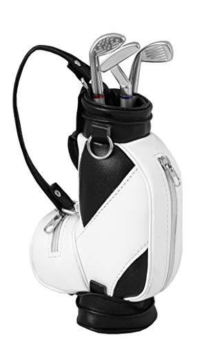 LONGRIDGE Unisex-Adult Minigolfbag Stift-Set Mini-Golfbag, Weiß/Schwarz, One Size