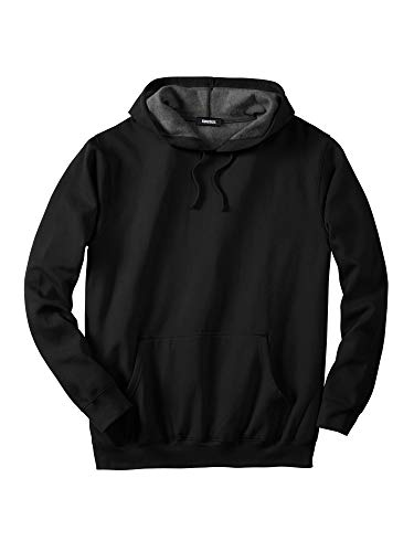 KingSize Men's Big & Tall Fleece Pullover Hoodie - Tall - 2XL, Black