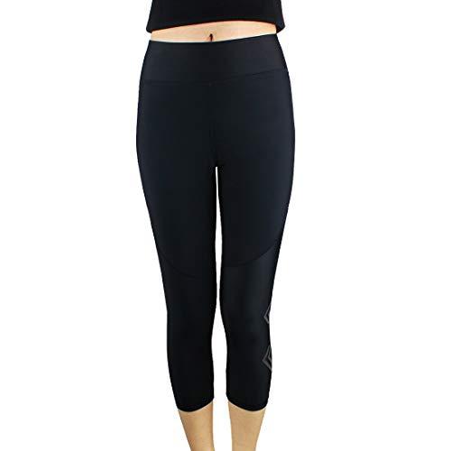 Andux Pantalon de Fitness pour Femmes Pantalon Court Pantalon de survêtement serré Pantalon de Fitness Noir Stovepipe JSK-01(XL)