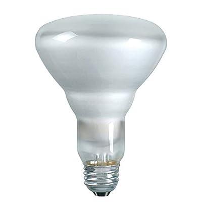 Luxrite LR20880 65BR30/120V 65-Watt BR30 Incandescent Flood Light Bulb, Frosted Finish, 500 Lumens, E26 medium Base