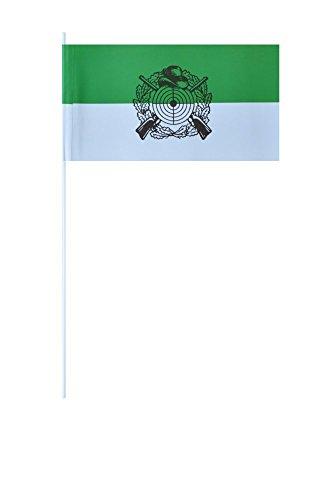 Flaggenfritze® Papierfahnen Schützenfest mit Emblem