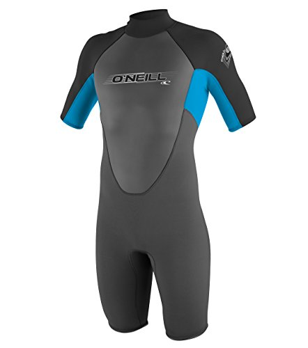 O'Neill Wetsuits Jungen Neoprenanzug Youth Reactor 2 mm S/S Spring, Graphite/Tahiti/Black, 8