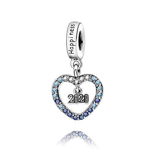 925 Plata Pandora Colgante De Invierno Año Charm Charm Pulseras Originales Mujeres Diy Joyería De Lujo Para Mujeres