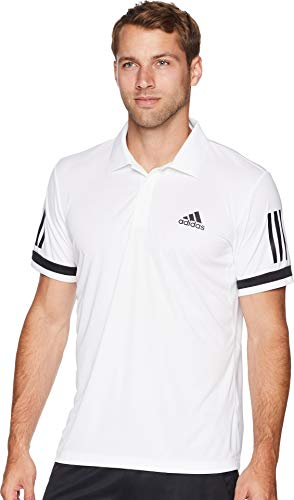 adidas Men's Tennis Club 3-Stripe Polo White Small
