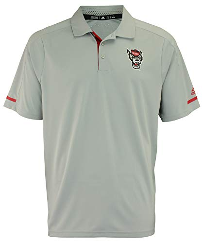 adidas NCAA Men's Climachill Team Logo Performance Polo, North Carolina State Wolfpack #2 Large