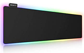 RGB Gaming Mouse Pad UtechSmart Large Extended Soft Led Mouse Pad with 14 Lighting Modes 2 Brightness Levels Computer Keyboard Mousepads Mat 800 x 300mm / 31.5×11.8 inches