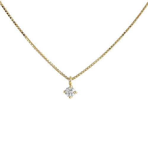 Colgante con cadena Oro Amarillo 18k modelo Garritas (1 Diamante 2mm. 0,04 cts.) Colgante: 2mm.