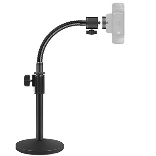 "InnoGear Webcam Stand, Upgraded Flexible Desktop Stand Gooseneck Stands Holder for Logitech Webcam C922 C930e C920S C920 C615 C960 and BRIO and Other Devices with 1/4"" Thread"