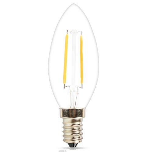 360LM E12 Base Chandelier LED Bulbs 30W Equivalent Indoor/&Outdoor Vintage Bulb Mengjay 1 Pcs LED Candelabra Bulbs C35 Torpedo Shape Filament Bulb 4W 2700K Warm White Candle Light Bulbs