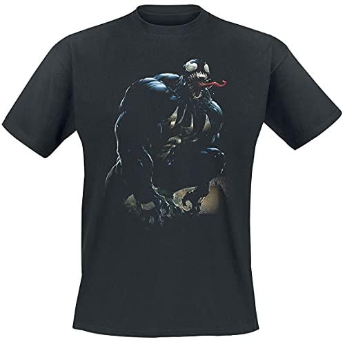 Venom (Marvel) Shouts Männer T-Shirt schwarz M 100% Baumwolle Fan-Merch, Filme, Marvel Comics