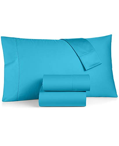 Charter Club Damask Solid King 4 Piece Sheet Set, 550 Thread Count 100% Supima Cotton Fresh Teal