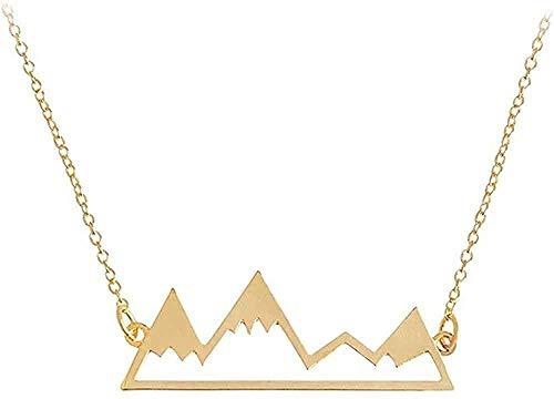 BEISUOSIBYW Co.,Ltd Collar Cadena de montaña Collar de Mapa del Mundo joyería Cordillera de la Naturaleza Excursionista Amantes de la Escalada Regalos Collar de joyería Minimalista