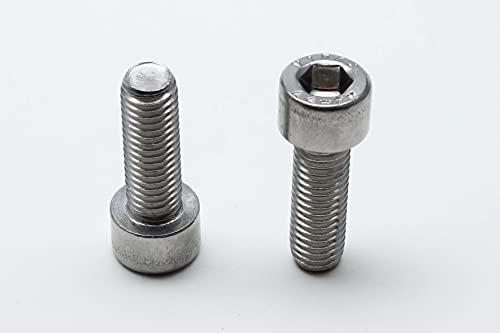 10 tornillos hexagonales DIN 912 de acero inoxidable A2 y A4 (acero inoxidable V2A, M10 x 30 mm)