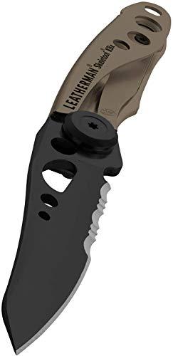 LEATHERMAN - Skeletool KBX Multifunktionsmesser, klein, leicht und kompakt, Braun Coyote