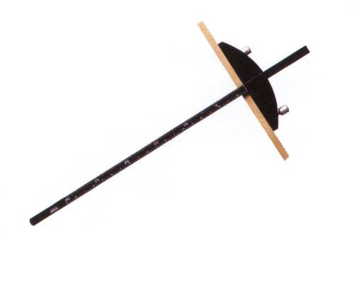 モトコマ コンパクト定規 白樫羽スライドタイプ NKP-600C
